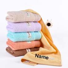 Customized Cotton Hand Towel-- 1pc/lot 100% Cotton Embroidery Name Personalized Towel Gift for Friends Family(China)