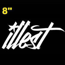 "(100 pieces /lot) Wholesale 8"" JDM EURO Style Fatlace illest Drift Race Logo Car Window Sticker Decal Car styling(China)"