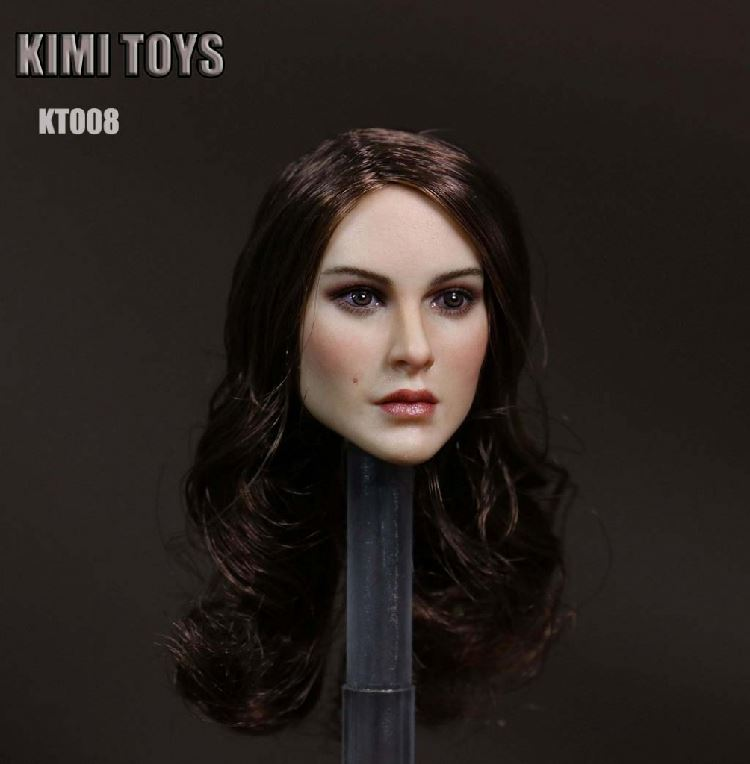 TOP HOBBIES TOYS KT008 1/6 Scale Long Hair Girl Head Sculpt  HeadPlay F 12 Female Phicen Action Figure Body Dolls<br>