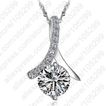 PATICO 2017 New Fashion High Grade 925 Sterling Silver Pendant Necklace Jewelry Nice Popular  With Cubic Zirconia For Women