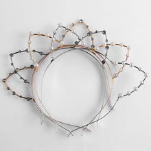 Buy 1PC Fashion Sexy Cat Ear Women Girl Headband Beaded Pearl Rhinestones Hairband Headwear Hair Hoop Band Accessories Silver/Golden for $1.23 in AliExpress store