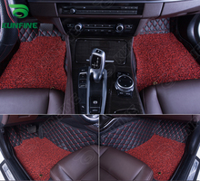 3D Car Floor Mat for FORD EDGE foot mat car foot pad with One Layer Thermosol coil Pad Left hand driver car styling liner