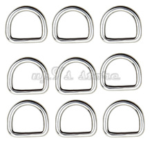 Free Shipping 10PCS 3MM Diameter Forged AISI 316 Stainless Steel Welded D Ring Boat Hardware Rigging Hardware