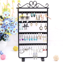 Earring display Jewelry Display Jewelry Organizer 48 Holes Black color Metal Earring Jewelry Display Rack Stand Holder