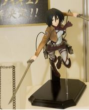 anime Attack on Titan Mikasa Ackerman battle version pvc sega figure toy doll model gift