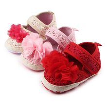 MiYueBB Newborn Baby Crochet Shoes Infant Girl Soft Sole Anti-slip Shoes Breathable First Walkers