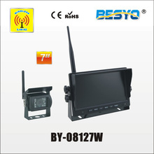 Heavy vehicle (trucks ,bus ,vans) reversing rearview wireless monitor with camera system BY-08127W(China)