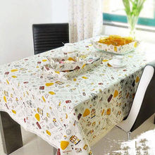 Small Tower Style Home Pastoral  Cotton / Linen Printed Table Cloth Tablecloths for Rectangular and Round Table Cover Towel