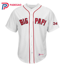 Diy Big Papi IN FONTS custom Baseball Jersey 34 David Ortiz big papi cool jersey for fan gift Embroidery logo(China)