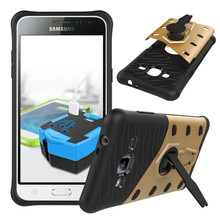For Samsung Galaxy J3 SM-J3109 /J3 2016 Phone Case Shock proof 360 swivel bracket Netted heat dissipation Armor Phone Case Cover