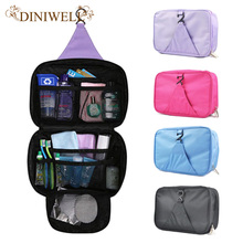DINIWELL Luxury Wash Bag Toiletry Travel MakeUp Mens Ladies Hanging Folding Cosmetics Organizer Storage Container For Outdoor