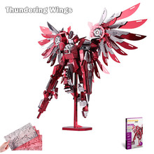 Piececool 2016 Newest 3D Metal Puzzles of Thundering Wings 7 Stars Difficulty 3D Metal Model Kits DIY Funny Gifts for Kids Toys(China)