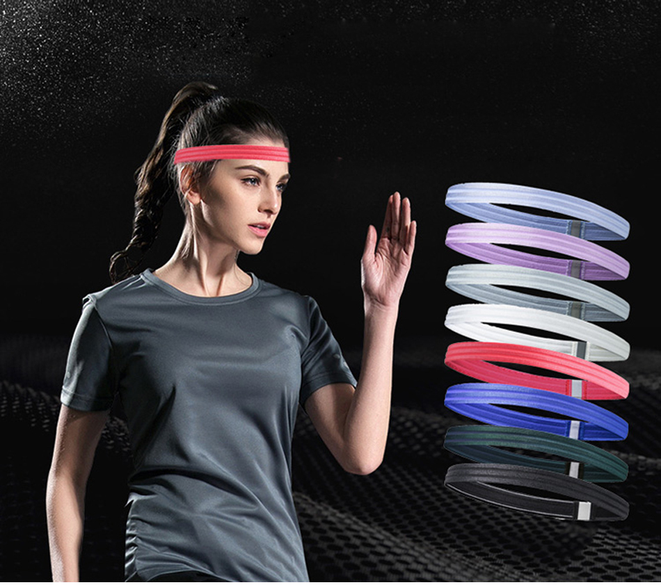 NNIUK Stretch Elastic Stirnband Sport Adjustable Non Slip Moisture Wicking Sweatband for Cycling Running Gym Fitness Tennis Yoga