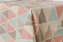 High Quality 50X150CMTriangle ice cream Cotton Linen Fabric For DIY Sewing Quilting Patchwork Soft Cloth Bed Sheet Home Textile(China)