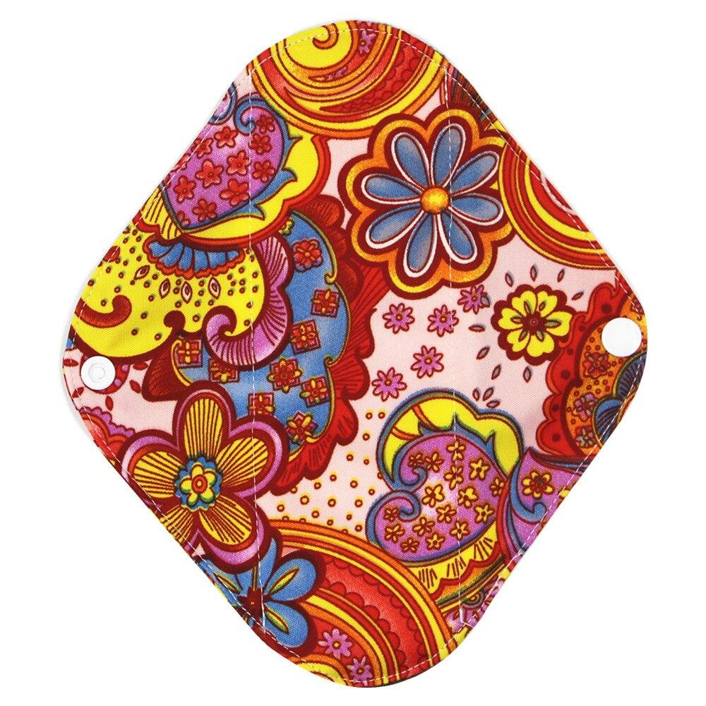 New Reusable Bamboo Charocoal Washable Menstrual Pad Mama Sanitary Towel Pad Practical Feminine Hygiene Product 1pc Pretty 32