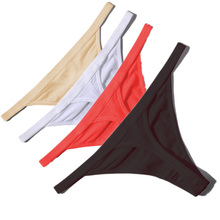 Hot Sale Sexy Women Cotton G String Thongs Low Waist Sexy Panties Ladies' Seamless Underwear Black Red White Skin(China)