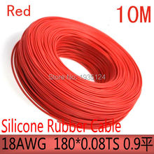 free shipment 10M 18AWG silicone rubber cable UL cable high temperature cable diy cable
