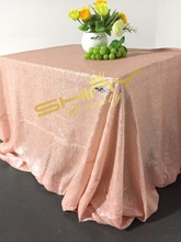 ShinyBeauty sequin tablecloth rectangle Baby Pink 90x156,table linen 225cm by 390cm for weddings