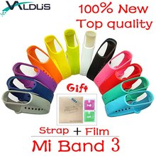 Buy Valdus Mi Band 3 Strap Smart Band Bracelet Film Replacement Wristband Straps Xiaomi Sports Smartband Accessories for $1.37 in AliExpress store