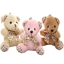 30pcs/lot  New arrive Plush toys cute small Bear Teddy bear Mobile phone bag key buckle Pendant dolls