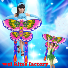 free shipping High quality dance props butterfly kite beautiful in the stage suit for 2-5 years childs toys software special(China)