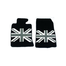 Brand New Floor Mat High Quality Plush Black Union Jack Style UV Protected Mini Cooper Car Accessories R55-R59(2PCS/SET)