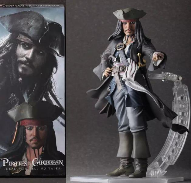 NEW hot 25cm Pirates of the Caribbean Jack Sparrow Jackie captain action figure toys Christmas gift<br>