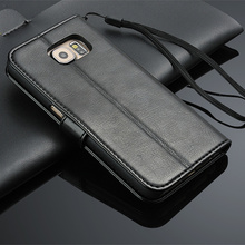 Luxury Vintage Wallet Leather Case for Samsung Galaxy S3 S4 S5 S6 S7 edge S8 A3 A5 J1 J3 J5 J7 2016 2017 Grand Prime Core2 Cover(China)