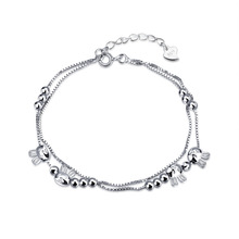 New Hot Selling Original Sterling-Silver-Jewelry Prayer beads with Kitty Charm Bracelets Compatible with European DIY Jewelry