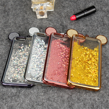 Buy Phone Cases Iphone 6 6S Plus Luxury 3D Mouse Ears Case Bling Glitter Soft TPU Back Cover Coque Iphone 7 Plus Fundas for $5.19 in AliExpress store