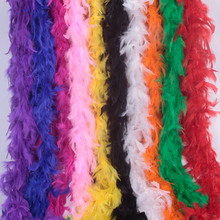 4 yards 40g chicken Feather Strip Turkey Feather Boa for wedding birthday party wedding decorations clothing accessories