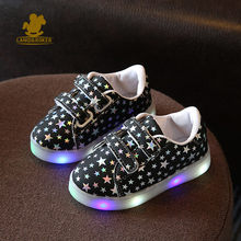 LQ 2017 Kids Shoes For Girls Boys Children Luminous Sneakers With LED Toddlers Glowing Sneaker Casual Baby Girls Lights Up Shoes
