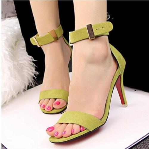 2016 new fashion simple OL career fine with Women high-heeled suede sandals with metal clasp word Women pumps shoes 992<br><br>Aliexpress