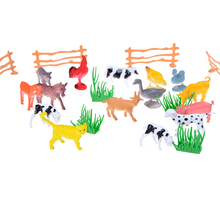 MINIFRUT New Arrival 15pcs/lot Simulation Farm Animal Mini Action Figure Toys Children Game Toy Kids Puzzle Education Toy Gifts(China)
