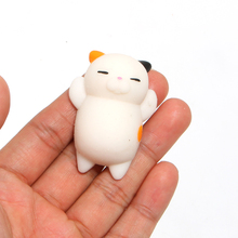 1PCS New Original Japan Lazy Cat Mochi Squeeze Stretchy Kawaii Decompress Squishy With Box Phone Strap