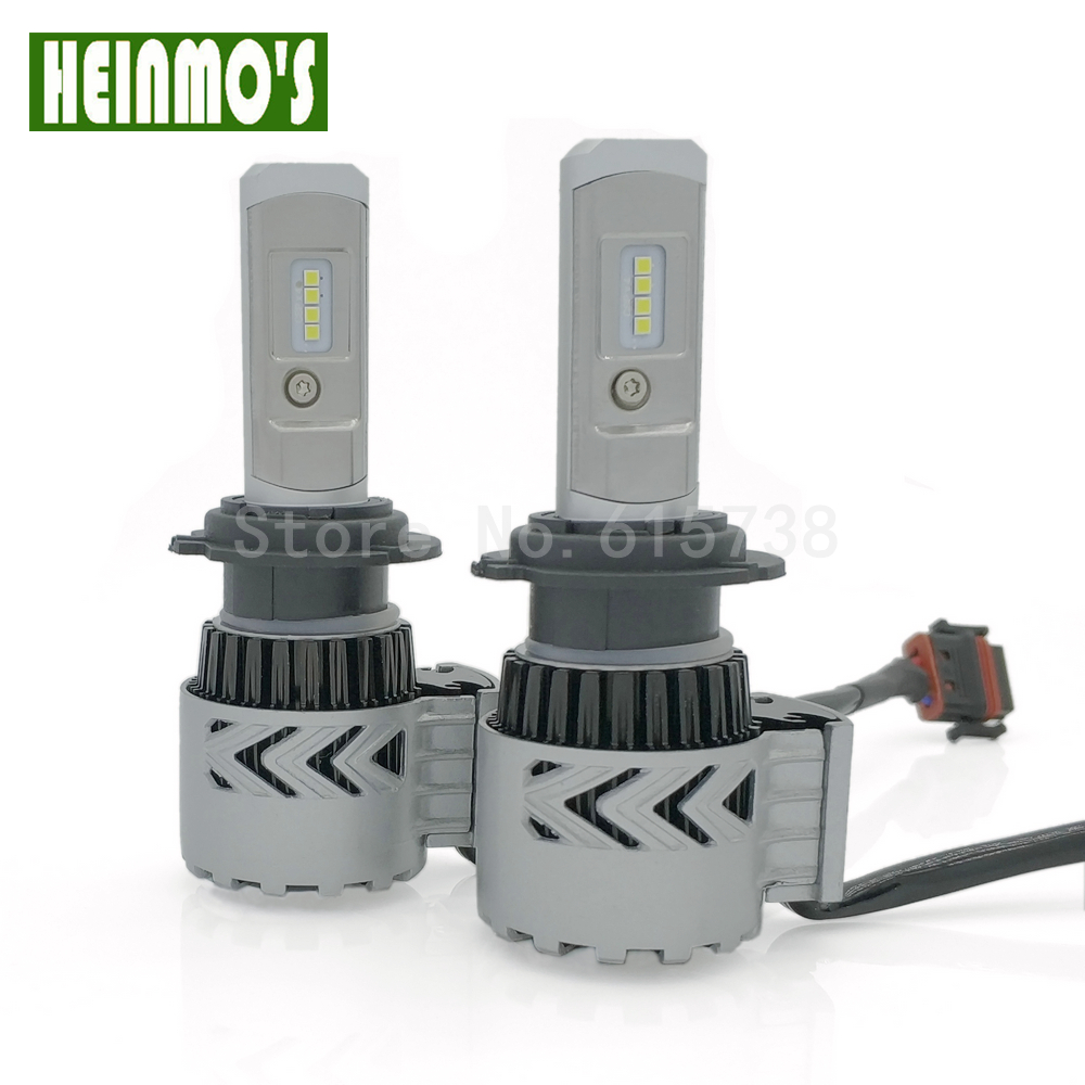 8 LED chips Super bright CAR  LED Headlight Kits H7  headlight 12V DC high power H7 led fog light headlamp bulbs 60W 6000LM<br>
