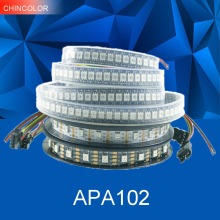 APA102 strip DC5V Addressable 30led 60led 144led per meter Smart led pixel light IP30 IP65 IP67 DATA and CLOCK seperately UW(China)