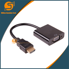 HDMI to VGA adapter Digital to Analog Video Audio Converter Cable HDMI VGA Connector For Xbox 360 PS4 PC Laptop TV Box(China)