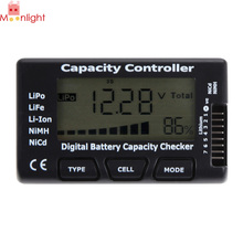 Practical Battery Tester With LCD Display Detecting Details about Battery Capacity Voltage Checker Tester For LiPo LiFe Li(China)