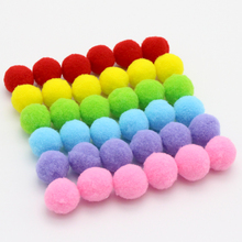 10mm/15mm/20mm/25mm Pompom Fur Ball Plush Ball Handmade Diy Material Early Learning Creative Handmade Hair Ball 22010043(China)