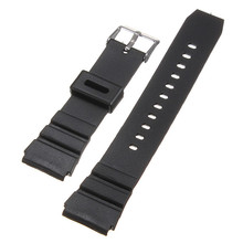 New Arrival High Quality Soft Silicone Sweatband Strap Buckle Wrist Watch Strap 18mm black Military Free Shipping