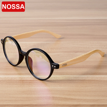 NOSSA Handmade Bamboo Vintage Round Glasses Frame Women Men Retro Myopia Eyewear Frame Wooden Spectacle Eyeglasses Goggles(China)