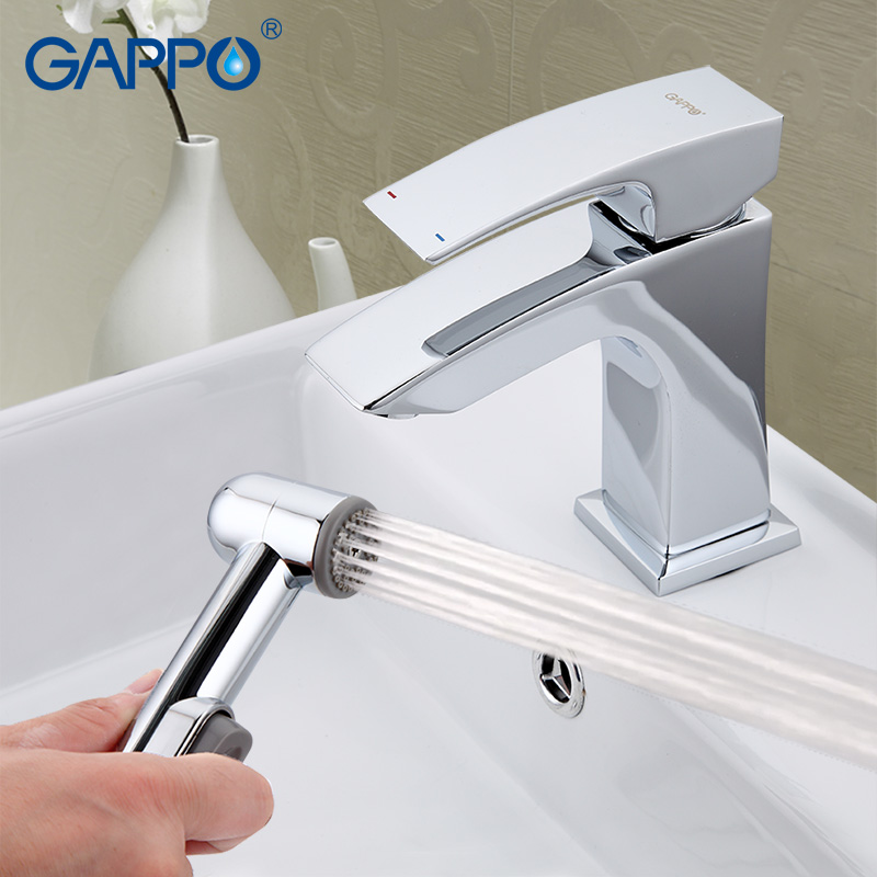 GAPPO bathroom faucet Deck Mounted Basin Sink Faucet mixer torneira Cold Hot Water Mixer tap grifo hand shower set GA1207