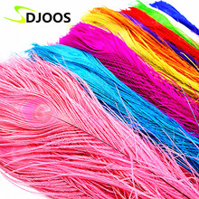 50p Natural Long Peacock Feathers centerpieces Cheap Bulk Centerpieces Peacock Feathers for decoration Costume Wedding Wholesale(China)