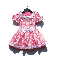 3pcs/lot Minnie Mouse Dress Princess Party Girls Minnie Costume Dresses Halloween infant girls baby Summer Christmas ball gown
