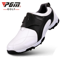 anti-skid 3D breathable patent design sport shoes super light imported microfiber leather resistant good grip golf shoes