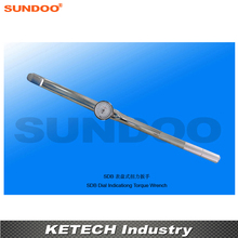 Sundoo SDB-500 100-500N.m Handheld Torsion Tester Dial Indicating Torque Wrench
