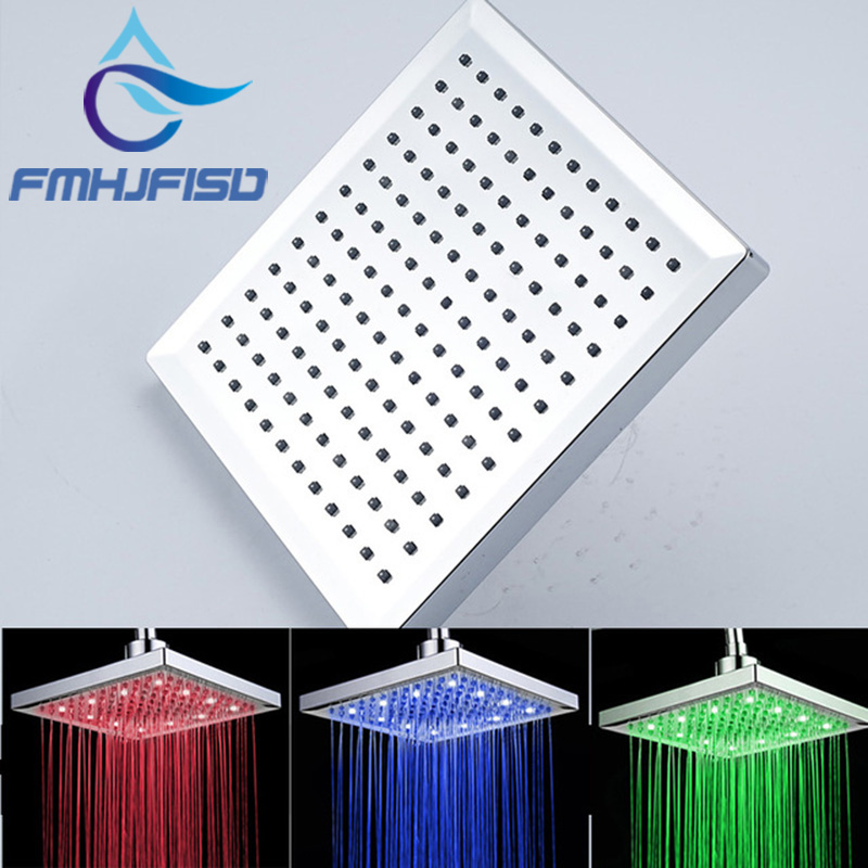 Free-Shipping-High-Quanlity-3-Color-Changing-LED-Shower-Head-Chrome-Finish-ABS-Plastic-Material