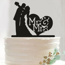 Tronzo New Romantic Wedding Cake Topper Acrylic MR MRS Lovely Wedding Decoration Cake Accessory Table Decor