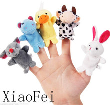 Cartoon Animal Doll Hand puppet Child Baby Early Education Puzzle Appease Plush Toy
